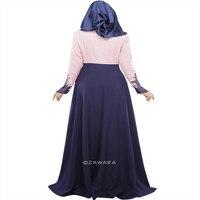 Vintage Kaftan Abaya Jilbab Islamic Muslim Womens Long Sleeve Maxi Dress M L