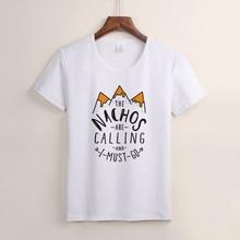 New fashion mountain calling loose t-shirts print women/girl t shirt  women's clothing short sleeve tee