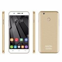 OUKITEL U7 Plus 5.5 ''MTK6737 Smartphone Android 6.0 Quad Core Telefon komórkowy 2 GB RAM Dual Sim TF Linii Papilarnych 4G LTE telefon komórkowy