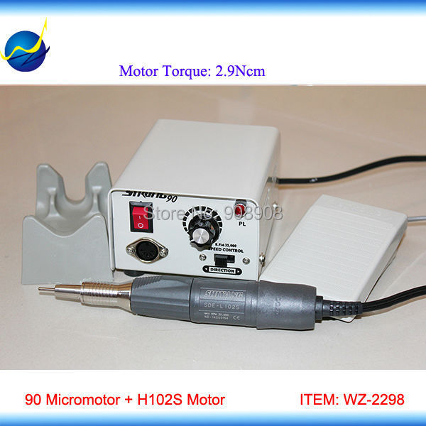 35000rpm Laboratory, Jewelry, Nail File & Industry Polishing Polisher 90 Electric Micromotor  + L102S Brush Handpiece jewelry polishing machine polisher