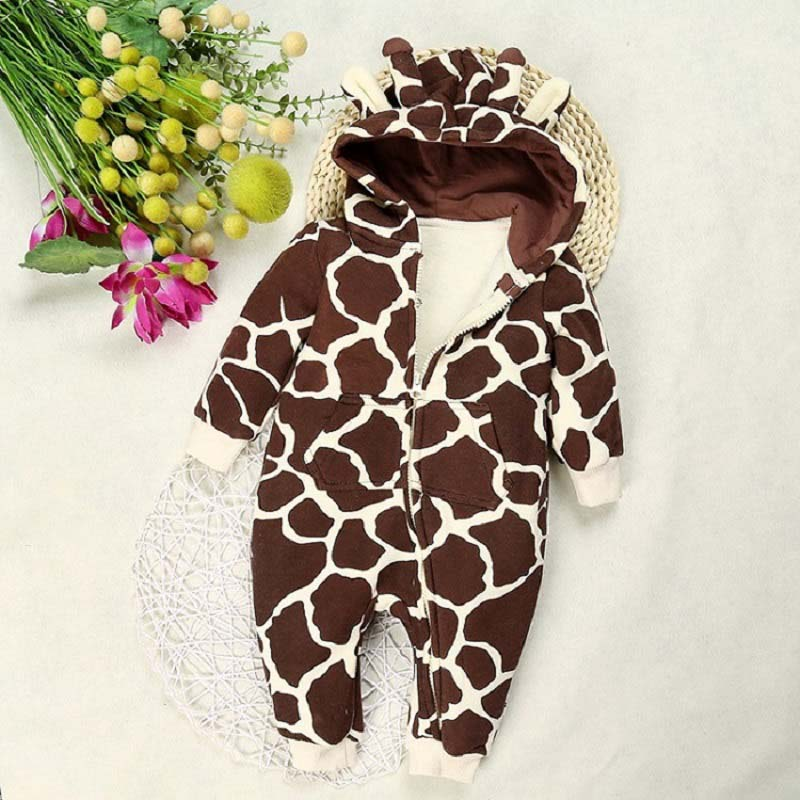 New 2016 baby rompers autumn winter cartoon long-sleeve children's clothing for girls boys jumpsuits infant clothes ROM006 winter newborn bear jumpsuit patchwork long sleeve baby rompers clothes baby boys jumpsuits infant girls clothing overall