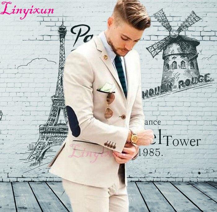 71d2c8d0f21 Luxury Shawl Lapel men suit set Custom made White slim fit Three ...