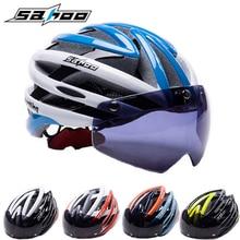 2017 NEW SAHOO Bicycle Helmet Women/Men Cycling Helmet Magnetic Goggles Ultralight Mtb Mountain Road Bike Helmet Casco Ciclismo