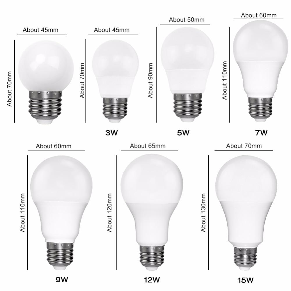 светодиодные лампы E27 Сид E14 bombillas