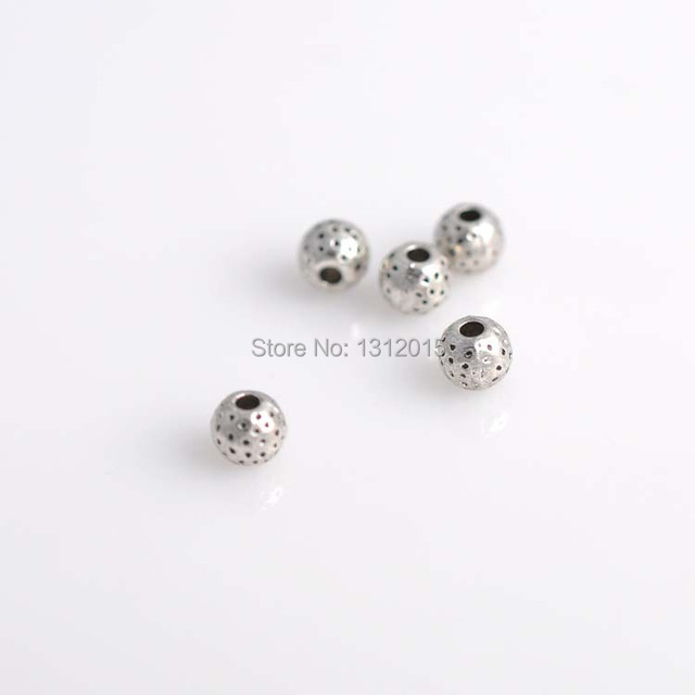 making hot wholesale alloy spacer beads sell round silver jewelry item and antique supplies