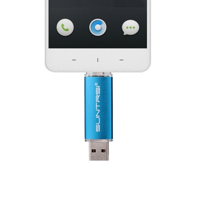 Suntrsi 128gb usb flash High Speed OTG flash drive 32gb usb stick for smart phone pendrive 64gb 16gb Metal Swivel flash disk 8gb