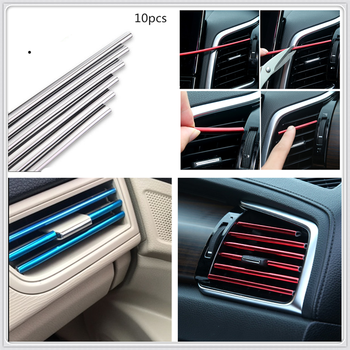 Car Air Vent Grille cover Rim Trim Outlet Decoration Strip for BMW E34 F10 F20 E92 E38 E91 E53 E70 X5 M M3 E46 E39 E38 E90 image