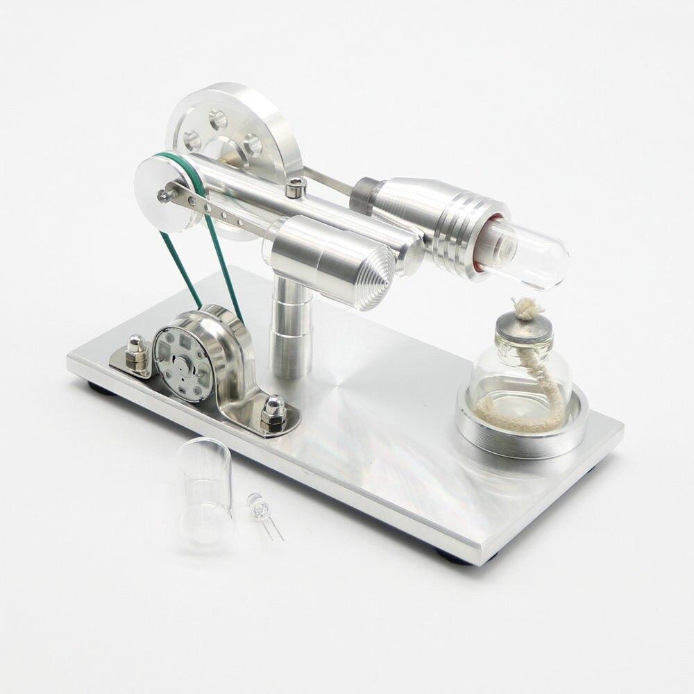 Nouvelle marque en acier inoxydable Mini Air chaud Stirling moteur moteur modèle éducatif jouet Science expérience Kit ensemble pour les enfants