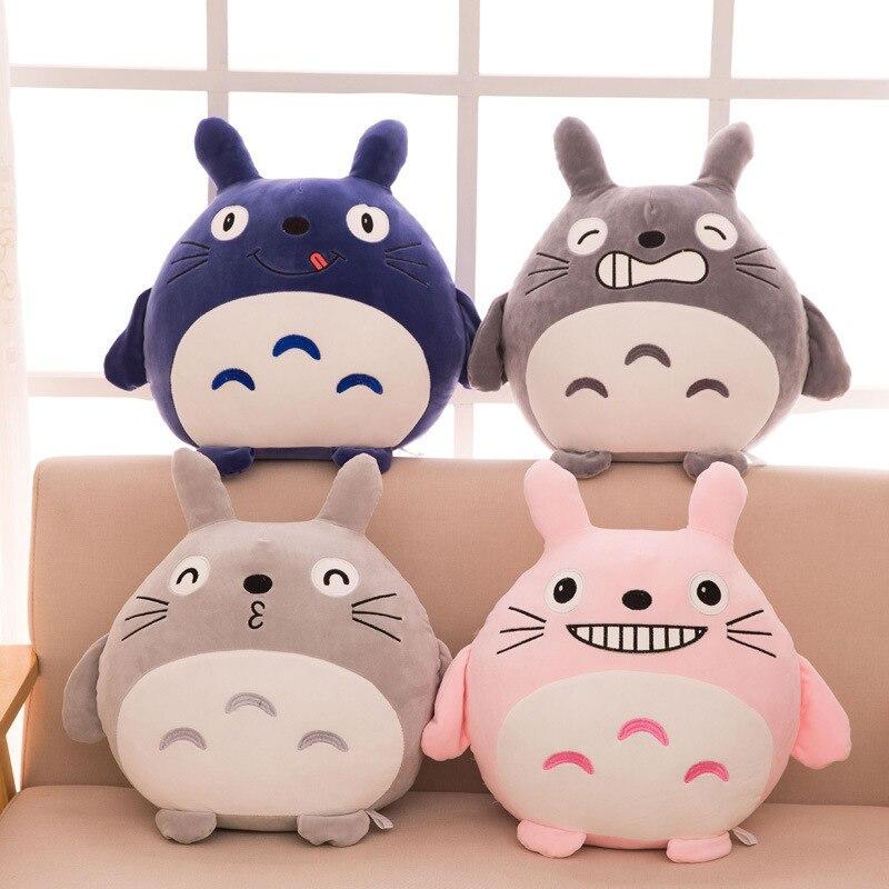 45 cm japon Anime TOTORO peluche peluche doux canapé oreiller/coussin dessin animé Totoro poupée/film noir sourire chat enfants jouets
