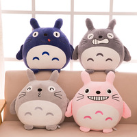 45cm Japan Anime TOTORO Plush Toy Soft Stuffed Sofa Pillow /Cushion Cartoon Totoro Doll / Movie Black Smile Cat Kids Toys