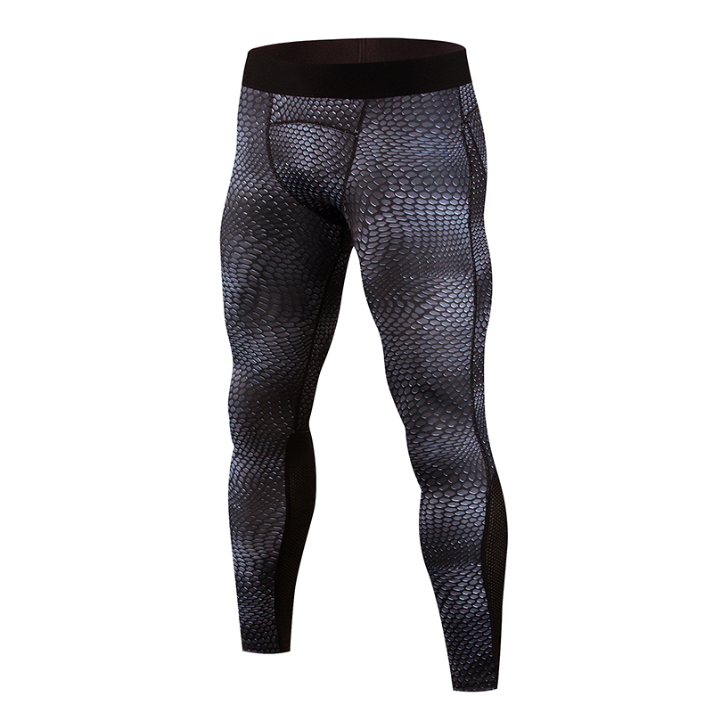 Mens Compression Pants Sport Tight Cycling Pants Gym Trousers Bodybuilding Jogging Skinny Leggings Sportswear Mens Running Pant