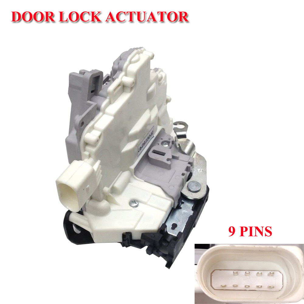 Door Lock Latch Actuator Left Front FL 1P1837015 1P1 837 015 For VW Eos For Seat Leon Altea Altea XL For Toledo II Locks & Hardware     - title=