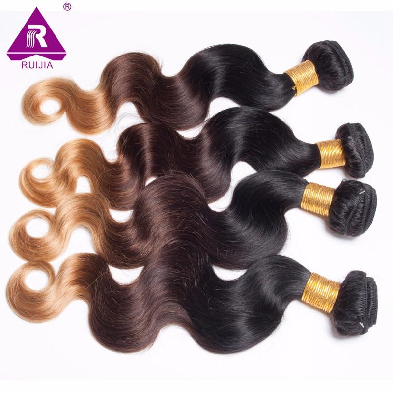 8A Grade Ombre Mongolian Body Wave Virgin Hair 3pcs Mongolian Ombre Hair Human Hair Weave Dark Brown 1B 4 27 Tissage Bresilienne (35)