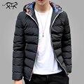 2017 Chegada Nova Jaqueta de Inverno Dos Homens Casuais Com Capuz Quente Casacos homens da moda Jaquetas e Casacos Parkas de Roupas de Marca para o Sexo Masculino M-5XL
