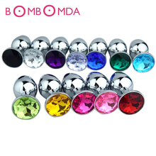 Small M L Size Metal Anal Toy Butt Plug Stainless Steel Anal Plug Sex Toys Sex Products For Adult Stainless Steel Horsetail Bolt