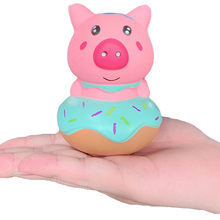 New Cute Pig Donut Squishy Cartoon Doll Soft Bread Scented Slow Rising Squeeze Toy Stress Relief Funny for Kid Gift 7.5*10CM