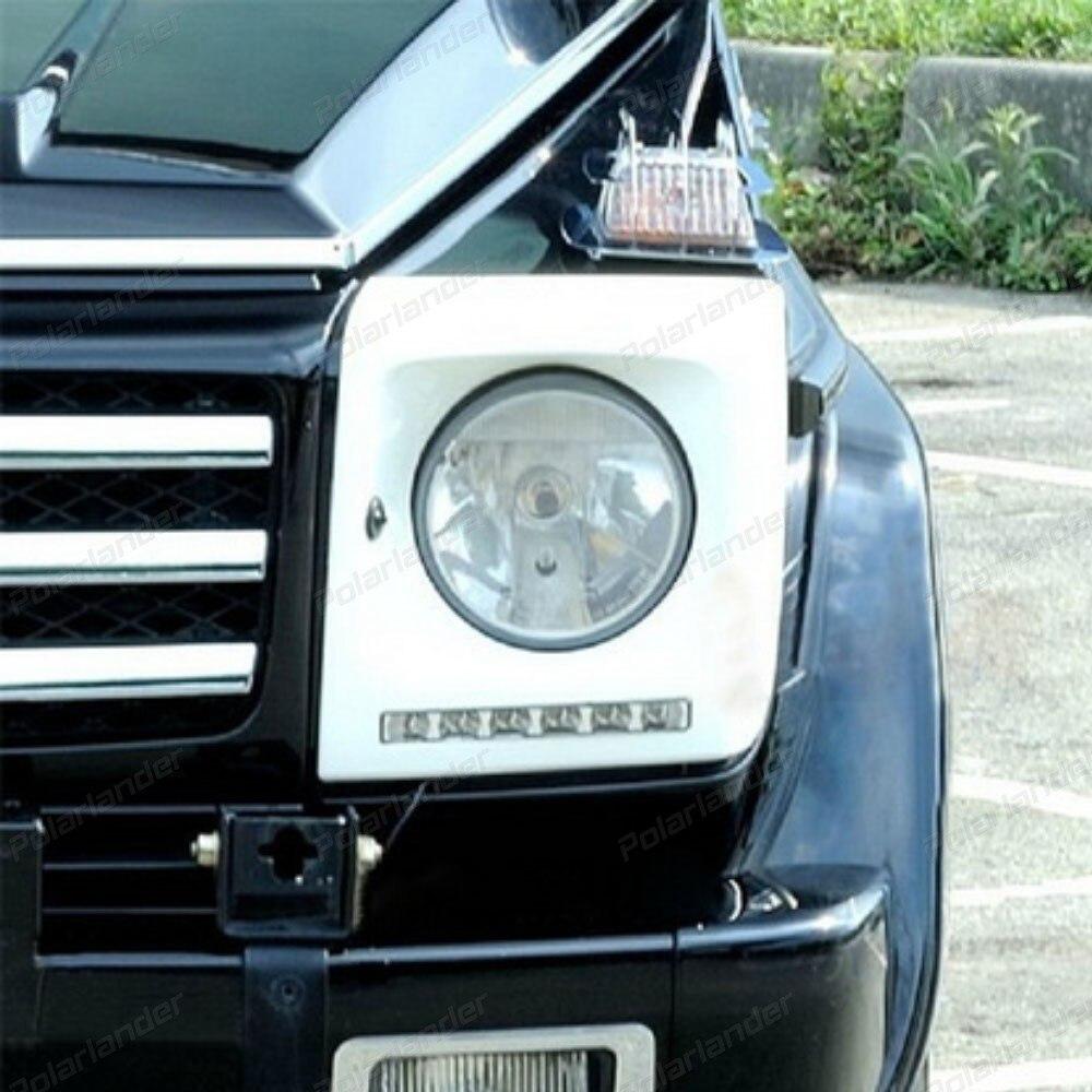 car styling For M/ercedes B/enz W463 G500 G55 1993-2015 Car DRL Waterproof ABS 12V LED Daytime Running Light