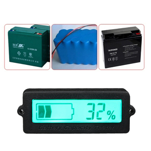 Auto 12V-48V Lead-acid Lithium Blue LCD Voltmeter Meter Car Battery Capacity Analyzer Monitor Motorcycle Tester Indicator