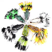 6pcs/set 7cm/13g Soft Baits Bionic Frog Lures Rubber Skirts Top Water Fishing Lures Swimbait Tackle Saltwater Freshwater