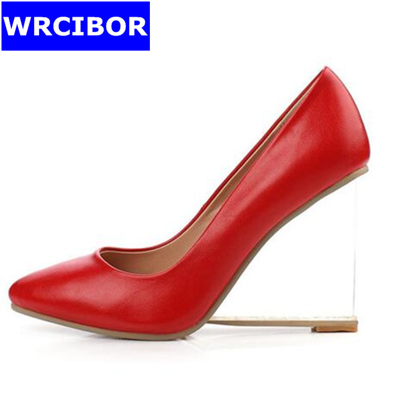 Big Size 33 42 NEW 2017 font b Women b font Shoes Genuine leather pointed toe