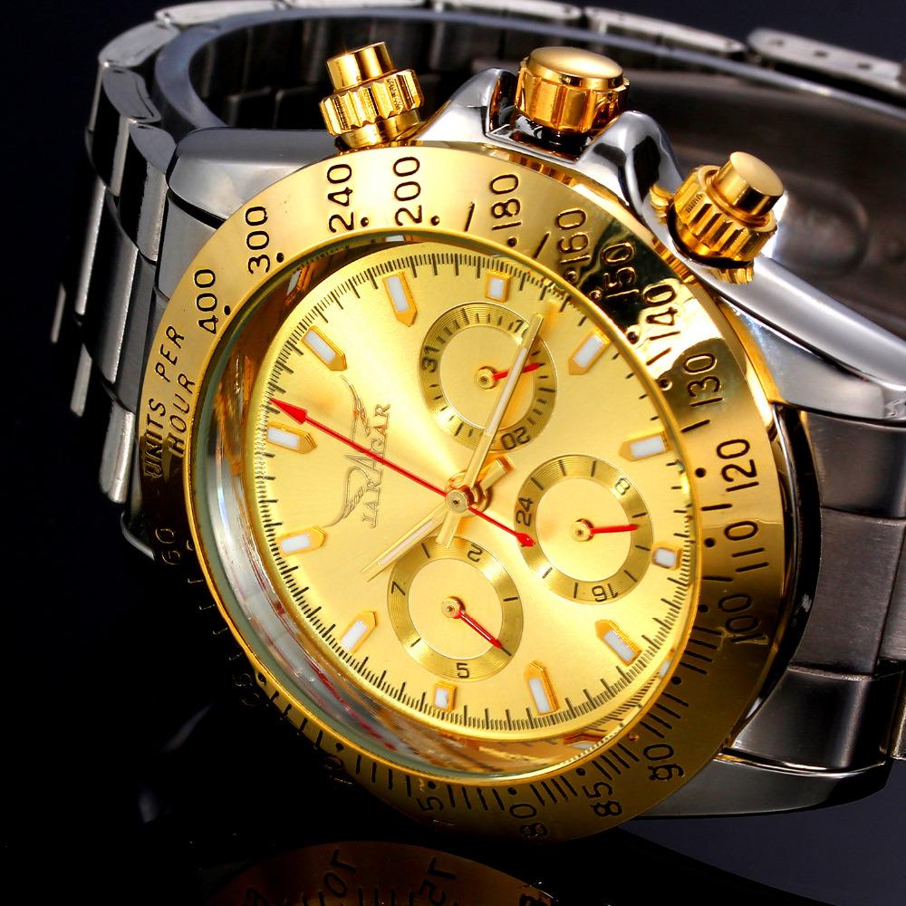 Prix pour Mens Montres Haut Marque De Luxe Automatique Mécanique Montre Horloge Jaragar 2016 Nouvelle Série Auto Date caisse D'or relogio masculino