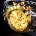 Mens Relógios Top Marca de Luxo Relógio Mecânico Automático Jaragar Relógio 2016 Nova Série Auto Data caso de Ouro relogio masculino