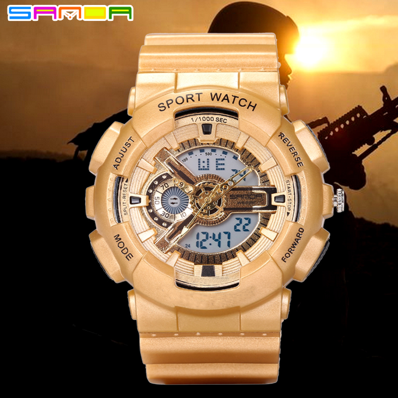 Men Dight Watch Outdoor Sport Military Army Watches Mens S Shock LED Analog-Digital Wristwatches Relogio