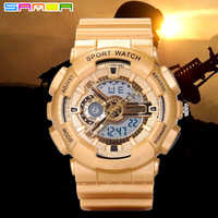 2016 Top Brand SANDA Men Dight Watch Outdoor Sport Military Army Watches Mens S Shock LED Analog-digital Wristwatches relogio