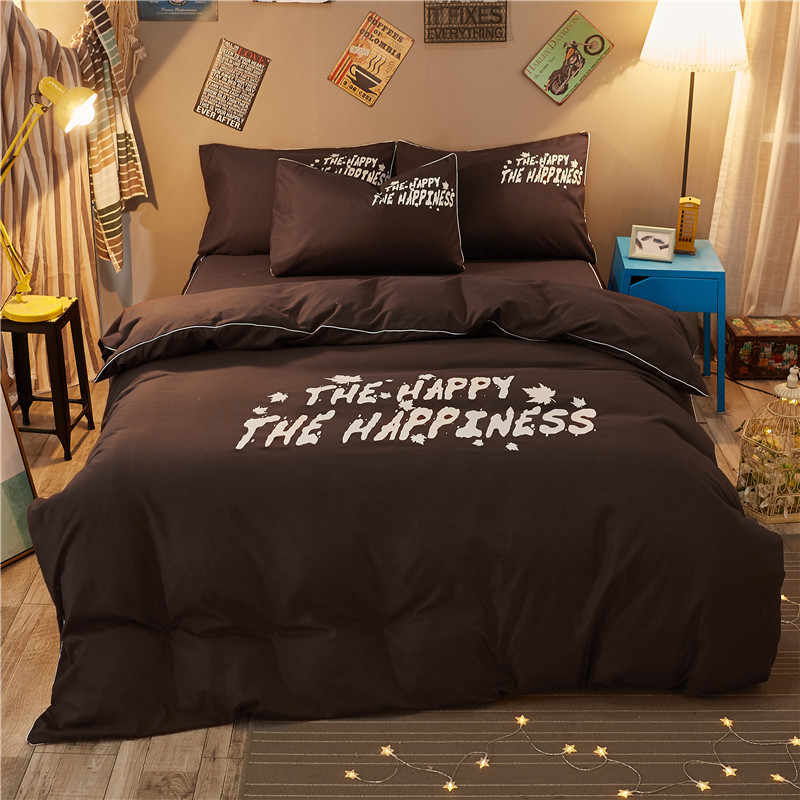 Double Single Size Duvet Cover 1.2m 1.5m 1.8m 2m 2.2m 6 feet Bedsheet Kids Bedclothes 3/4 pcs Bedding Sets24