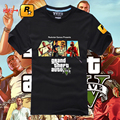SALE NEW GRAND THIEFT AUTO FIVE GTA 5 MAN BLACK T SHIRT SIZE AVAILABLE S-3XL