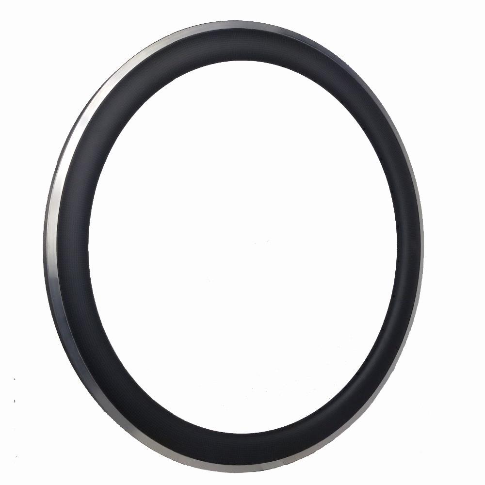 Roue en alliage de carbone traité de pointe pour vélo en chine jantes en aluminium de surface de frein OEM 700C 25mm 50mm
