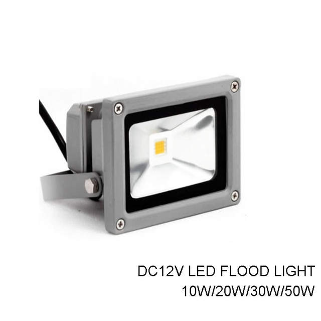 Us 11 49 19 Off Dc 12v 10w 20w 30w 50w Led Flood Light Ip65 Waterproof Floodlight Outdoor Lighting Warm White Cold White Blue Red Green In