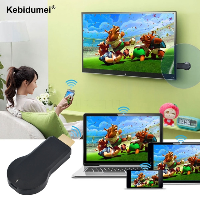 Kebidumei HD không dây wifi hiển thị TV stick chia sẻ cast dongle adapter miracast Receiver Hỗ Trợ Android Linux