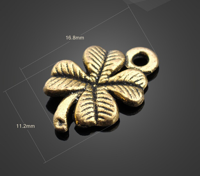 Wholesale 80//200pcs Retro style leaf DIY alloy charms pendant 19x11MM
