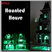 LED Light Up Kit For LEPIN 16007 Compatible With Lego 10228 City Monster Fighter Haunted House