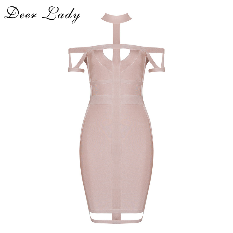 Deer Lady  2017 Bandage Dress Party Dresses Elegant Ladies Off The - Women's Clothing - Photo 5