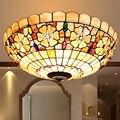 Светодиодные турецкие богемные потолочные светильники с натуральным корпусом Tiffany в средиземноморском стиле  люстры для кухни  гостиной  б...