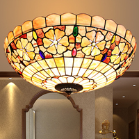 led Turkish Bohemia natural shell ceiling lights Tiffany Mediterranean style lustres kitchen living room bar ceiling lamp