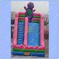 Hot Selling 4 Meters High Inflatable Slide Barney Commercial Inflatable Slide for Rental Business