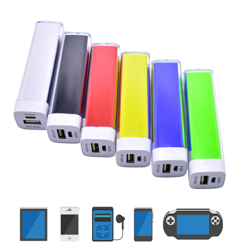 portable power bank 2000mah powerbank Lipstick Shape Universal Portable Extra power bank Charging for iPhone Samsung for xiaomi
