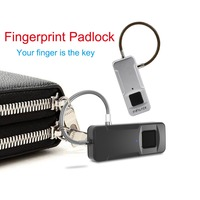 Smart Fingerprint Padlock USB Rechargeable Intelligent Keyless Locking IP65 Waterproof lock for Luggage box Anti Theft Security
