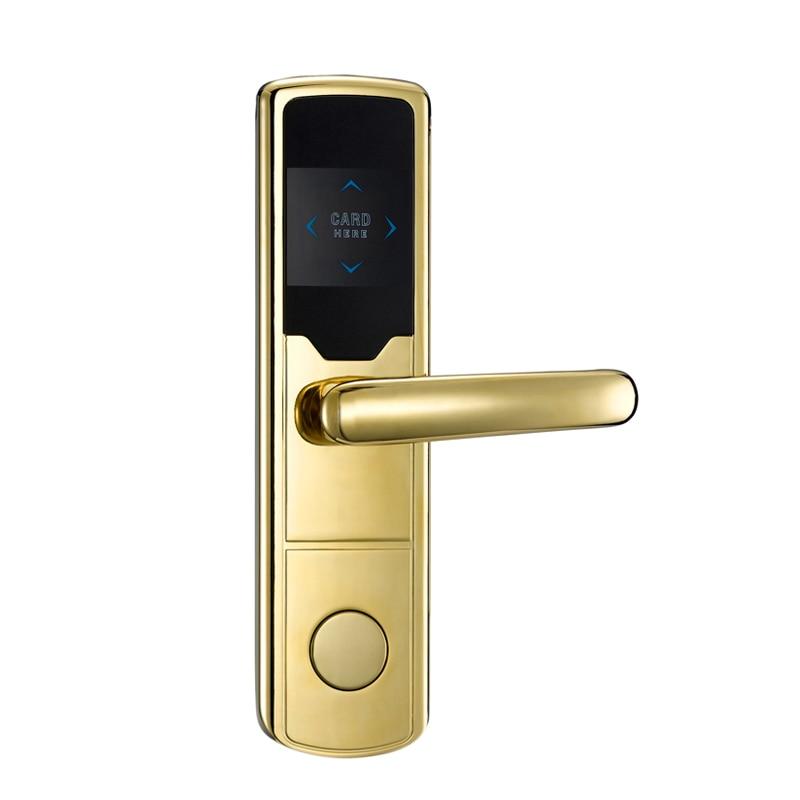 Hotel lock system smart rfid card lock hotel lock system rfid t5577 hotel lock gold silver zinc alloy forging material sn ca 8037