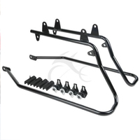 Black Saddlebag Conversion Brackets Set For Harley Heritage Softail 1984 2013