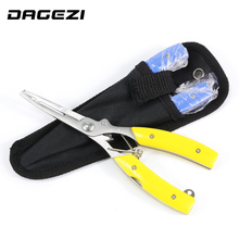 DAGEZI Multifunctional Fishing Plier two colors Stainles Steel Carp Fishing Accessories Fishing tackle cut Line Cutter Scissors