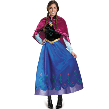Anna Princess Cosplay Costume Adult Snow Grow Elsa Clothing Fairy Tale Party Dress Anime for Halloween Women