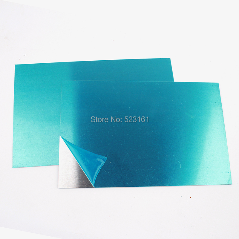 Thickness 0.8mm 20 Gauge Pure Aluminum Sheet Plate 150mm*100mm Or 150mm*150mm Craft Sheet Protective Film
