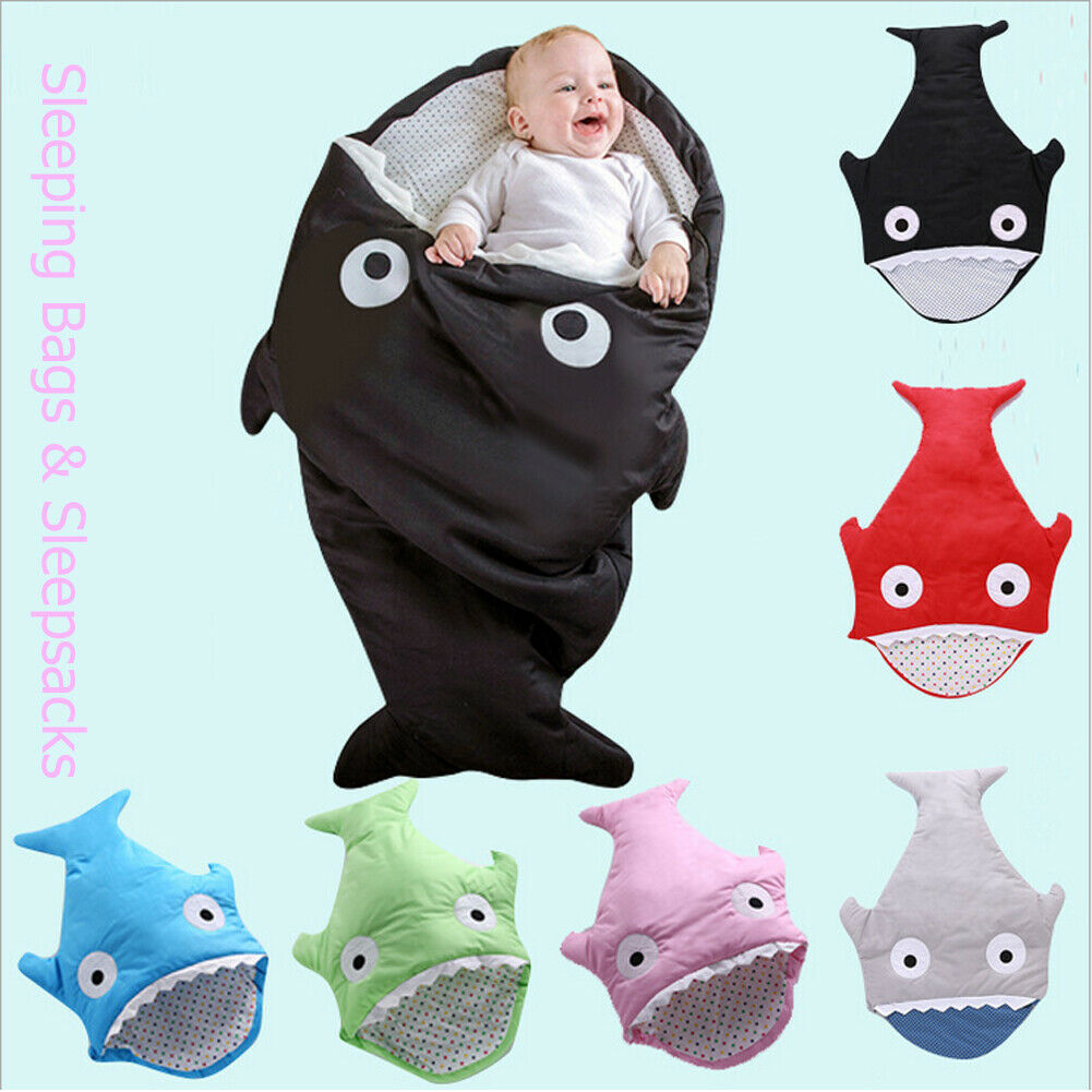 Brand Baby Sleeping Bag Shark Stroller Bed Blanket Swaddle Winer Baby Sleep Sack