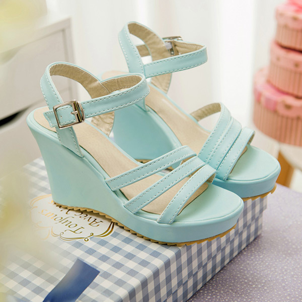 95b8713dcf18ce 2015 summer new casual open-toe simple wedges women sandal high heel women  sandals Comfortable and breathable women shoesE2233