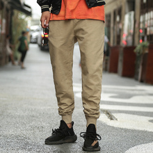 CHINISM 2017 Brand New Five Colors Men's Causal Pencil Pants Pure Cotton Slacks Mens Fashion Drawstring Basic Harem Pants
