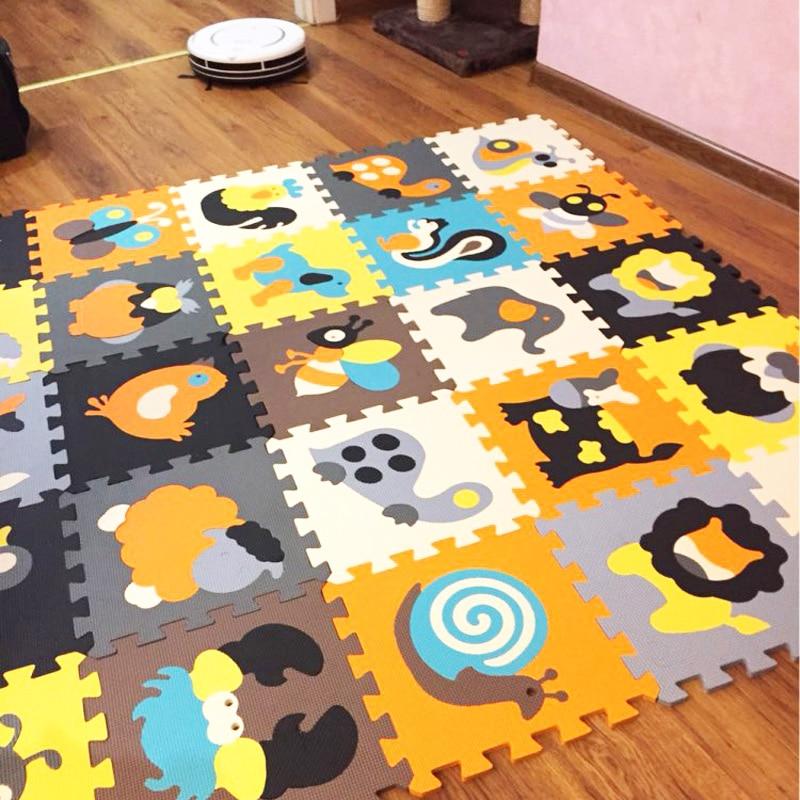 18pcs Cartoon Animal Pattern Carpet EVA Foam Puzzle Mats Kids Floor Puzzles Play Mat For Children
